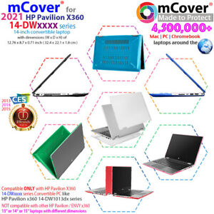 """NEW mCover® Hard Case for 2020 2021 14"""" HP Pavilion x360 14-DWxxxx series laptop"""