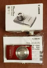Canon PowerShot ELPH 180 Digital Camera (Red) Sold as is Check descritopn