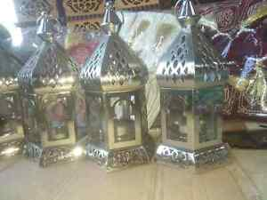 bedside table colorful traditional handmade lamps3