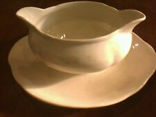 Alfred Meakin  Gravy Boat / Sauce Boat, Fixed Saucer