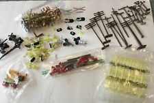 Large Lot of Vintage HO Scale Tyco Accessories Telephone Poles Street Signs More