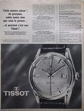 PUBLICITÉ DE PRESSE 1962 SEASTAR VISODATE MONTRE SUISSE TISSOT  - ADVERTISING