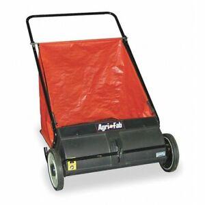 Agri-Fab 45-0218 Push Lawn Sweeper, 26 In Working Width, 7 Cu Ft Hopper