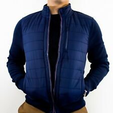 NWT Tommy Hilfiger Mens Navy Blue Quilted Full Zip Jacket...