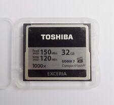32GB Toshiba  EXCERIA 1000X CompactFlash CF Memory Card 150MB/S UDMA 7 For DSLR
