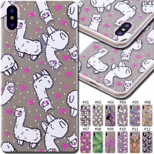 For Apple HTC Phones Cute Clear Soft Silicone TPU Rubber Back Case Cover Skin
