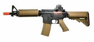 Colt M4 CQBR RIS AEG Airsoft Rifle Toy Tan/Black 400 FPS Metal Gearbox Gun