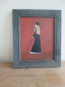 Lowry Style original oil painting on board, signed by the artist.