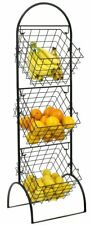Sorbus 3-tier Wire Market Basket Storage Stand for Fruit Vegetables Toiletries