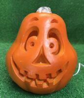 Halloween 1998 Paper Magic Foam Pumpkin light Rare Hard To Find Face Mold