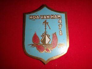 ARVN Navy Ship HOA VAN HAM 471 Vietnam War Beercan Insignia