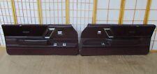 87-88 Olds Cutlass Supreme EURO Left & Right OEM MAROON Interior Door Panel SET