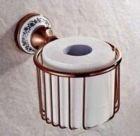 Rose Gold Brass Paper Roll Holder Toilet Paper Holder Bathroom Accessories