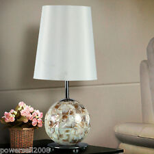 Modern Simplicity Style E27 Diameter 13CM Shell+Fabric Bedroom Table Lamp