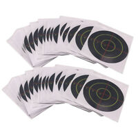 100 Pièces Cibles de Tir Réactive Adhésives Cible en Papier d'éclaboussures