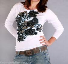 Geblümte Damenblusen, - Tops & -Shirts aus Baumwolle in Größe 2XL