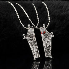 2pcs The Nightmare Before Christmas Necklaces Jack & Sally Pendants For lovers Y
