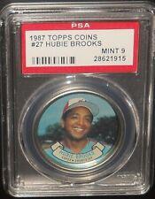 PSA 9 MINT 9 - #27 Hubie Brooks 1987 Topps Coins Montreal Expos