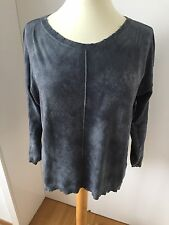 Traum Don't Label me DTLM by Repeat Pullover distressed stahlblau grau meliert M
