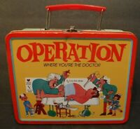 Vintage 2000 Operation Metal Lunchbox Lunch Box Hasbro Inc. Funny Bone Ankle