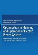 Optimization in Planning and Operation of Electric Power Systems : Lecture...