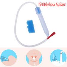 Newborn Baby Soft Tip Nose Nasal Aspirator Cleaner Absorption Vacuum Sucti_WR