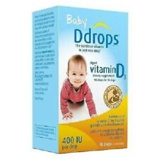 Baby Ddrops Liquid Vitamin D3 400 IU Dietary Supplement 90 Drops 2.5 ml