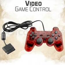 Red Twin Shock Video Game Controller Joypad Pad for Sony PS2 Playstation 2