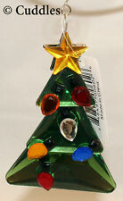 Christmas Tree Ganz Gold Star Xmas Ornament Acrylic Blue Red Orange Crystal NEW