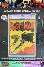 BATMAN #1 1940 - CGC GRADED (R) 7.5! GOLDEN AGE CLASSIC!!