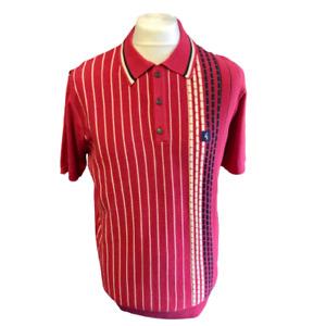 Gabicci Vintage V46GM07 Widmark Tayberry Knitted Polo Shirt ,Mod,60s,70s,SALE