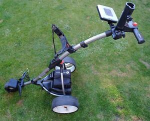 Motocaddy S1 Electric Golf Trolley 3 Wheel Foldable Battery, Charger, Umbrella