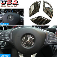 "1.92"" Diameter Steering Wheel Center Logo Sticker Trim For Mercedes Benz C E GL"