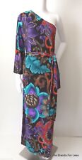 CHARLIE BROWN  rrp $379.00 One Sleeve Maxi Dress Size 8 -10  US 4 - 6