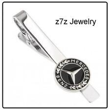 MERCEDES BENZ Logo Tie Clip - emblem insignia jewelry auto bar clasp z7qq