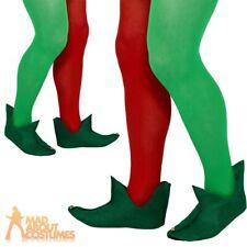 Green Elf BOOTS Adult Fancy Dress Santas Helper Mens Ladies Christmas Costume AC