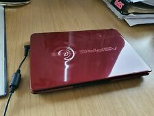 """Red and Silver Acer Aspire One D270 10.1"""" Dual Core 320GB laptop HDMI Win10"""
