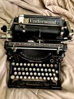 Antique UNDERWOOD  TYPEWRITER NO. 5 circa 1916