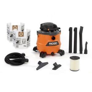 RIDGID Wet Dry Vacuum 16 Gal. 6.5 Peak hp Motor Detachable Blower Dust Bags