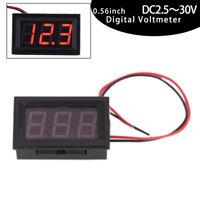 Mini LED Red Digital Display Voltage Voltmeter Panel Accurate Meter DC2.5-30V JR