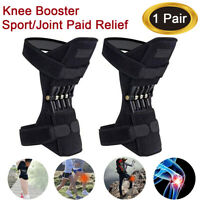 2 x Knee Joint Support Brace Lift Booster Leg Pad Sport Spring Force Pain Relief