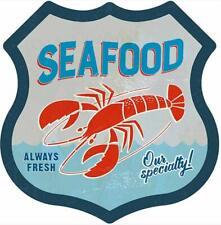 Fresh Seafood Lobster Diner Restaurant Pub Bar Road Sign