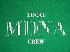 Rare Madonna Local Crew Only Carps Green T-Shirt Xl Mdna Concert Tour Official
