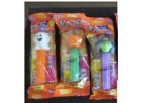 3 PACK Halloween Pez Candy Dispensers Vampire-Ghost-Witch-Pumpkin