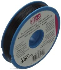Efco Tensile Force Thread, Polyamide, Black, 6.7 kg, 0.4 mm Diameter, 100 m