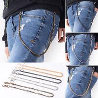Punk Men Biker Trucker Keychain Pants Trousers Wallet Belt Chain Hip Hop Rock