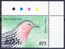 Red-throated Pipit, Birds, Maldives 2002 MNH Colour Guide Corner (A69)