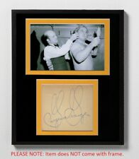 Gorgeous George Matted Autograph & Photo! AWA! Professional Wrestling Legend!