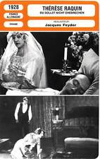 FICHE CINEMA : THERESE RAQUIN - Manès,Adalbert,Feyder 1928