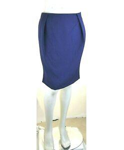 Gonna Donna al Ginocchio RISSKIO Made in Italy LU421 Blu Tg 48-XL